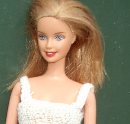 Australian Olympic Fan Barbie 2000 redressed.