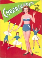 Cheerleader Teenage Doll Cut Outs - Stephens Publishing circa 1950s