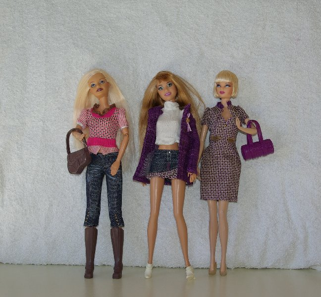 Kelly, Sharon and Becky model outfits from the Hillary Duff Closet.