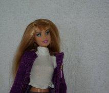 Hillary Duff Purple coat