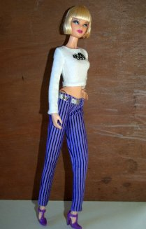 Fashion Fever striped pants and long sleeved T shirt.