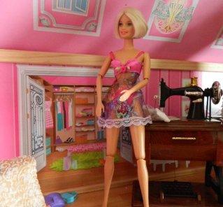 Modelling lingerie for Jan