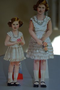 Princess Elizabeth and Margaret paper dolls.
