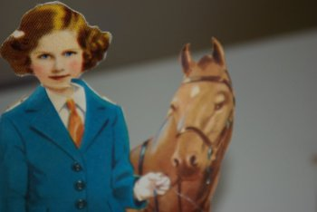 Princess Margaret paper doll with a pony.