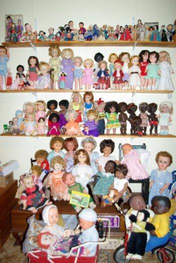 Dolls shelves.
