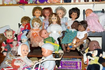 Big dolls and baby dolls.
