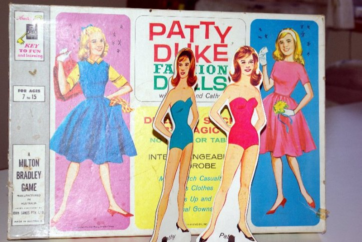 The two dolls, Patty and Cathy.