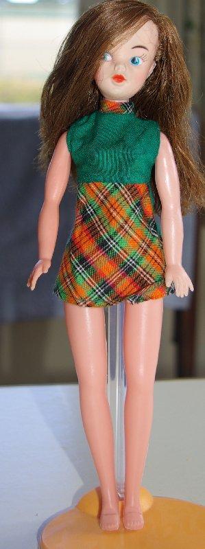 clone doll in original dress.