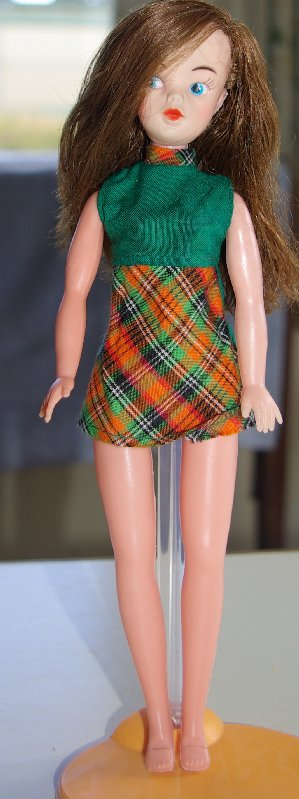 clone doll in original dress.
