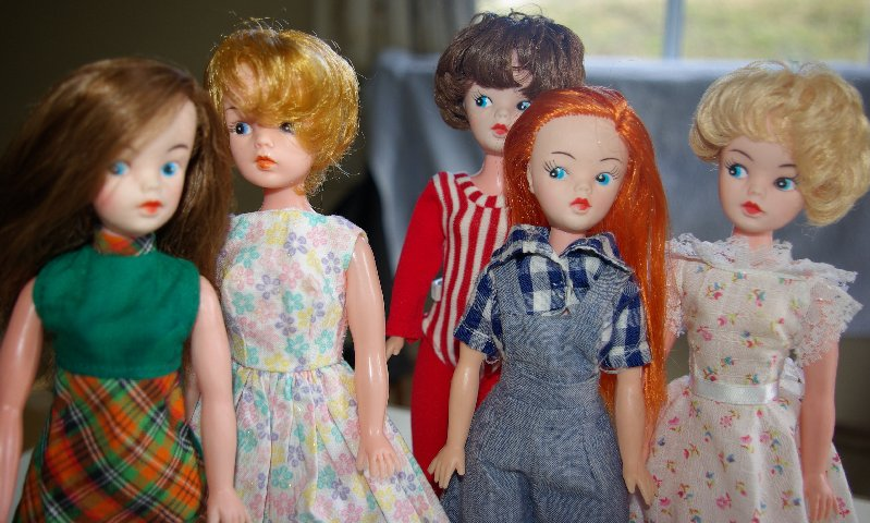 Sindy/Tammy clone dolls. All of them were made in Hong Kong in the 1960s