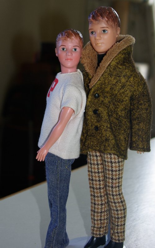 The height difference between 1965 &67 Paul dolls