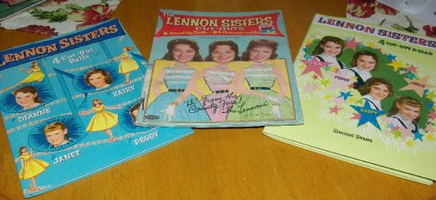 Lennon Sisters Paper Doll Books. The centre one is an original but we don't have the dolls as yet.