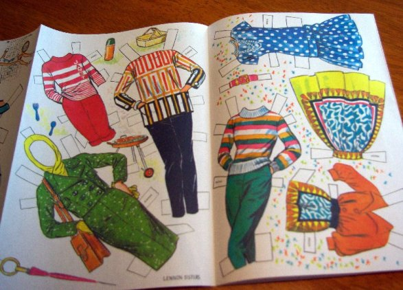 Lennon Sisters reproduction paper doll clothing