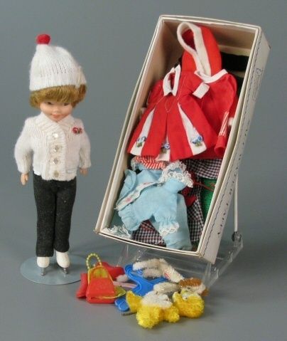 (Topper Toys) Deluxe Reading Penny Brite and clothes.