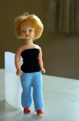 I redressed her in some clothes from my cast off box.