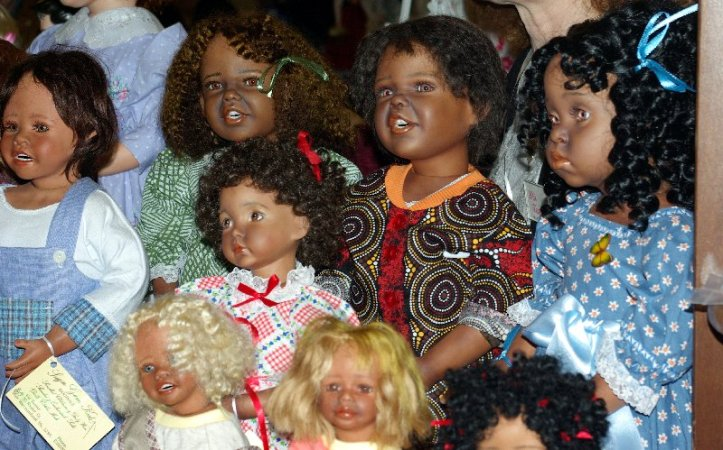 Indigenous porcelain dolls.