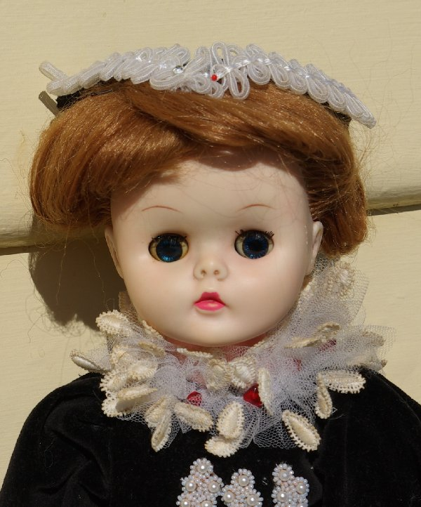 The doll after having her face washed and hair done.