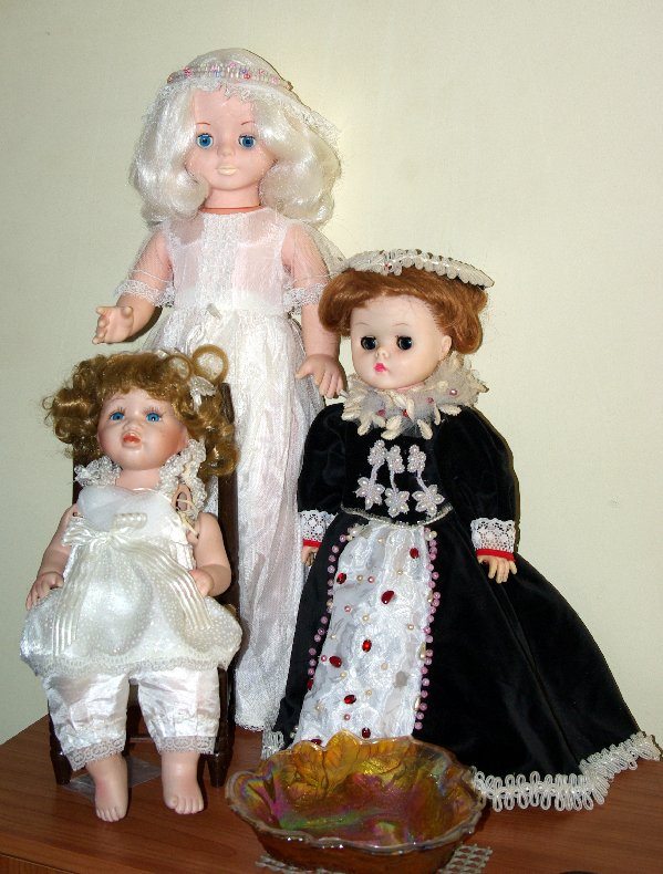 Three new dolls I was given.