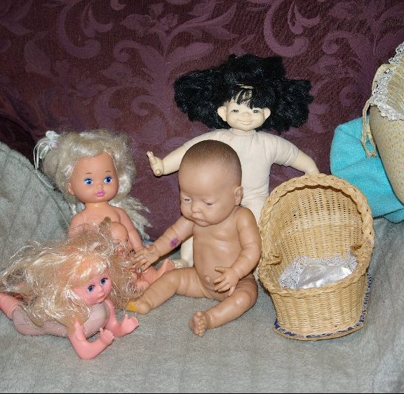 Dolls from the big bag of dolls.