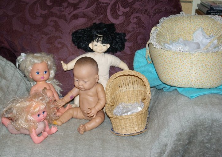 Dp;;s from the big bag of dolls.