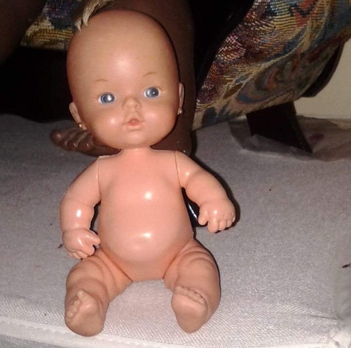 Small baby doll marked Estrela.