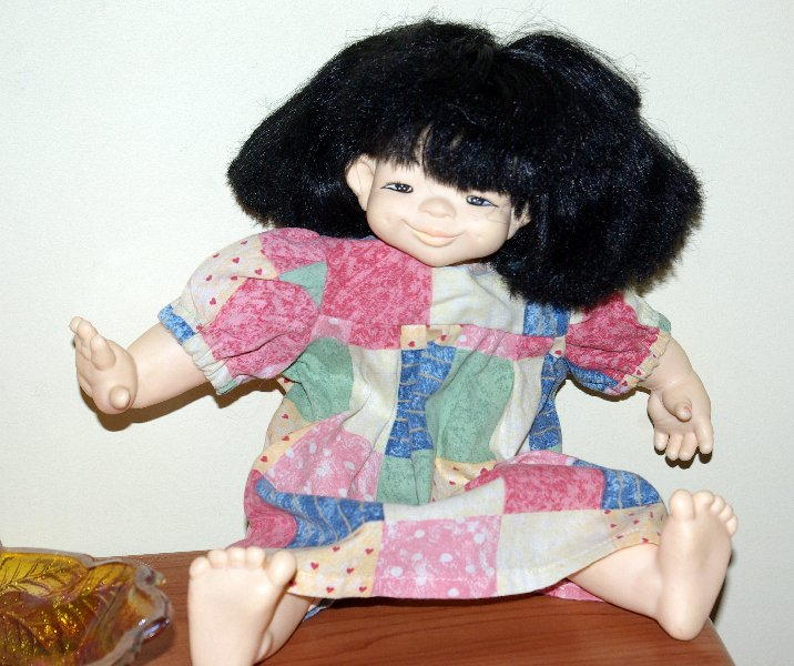 Soft bodied doll by Mieler of Hong Kong.