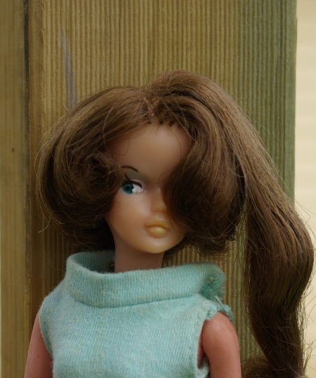 Brunette Palitoy Tressy in an original Tressy shift dress.