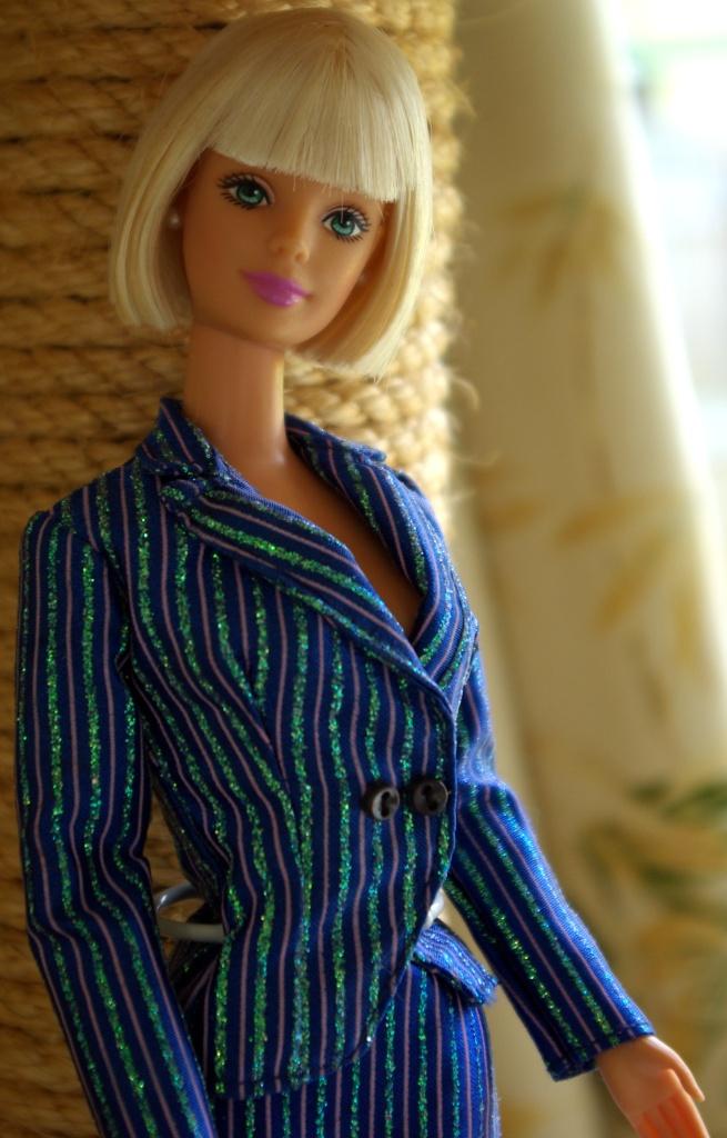 Vivienne in a Fashion Avenue suit.