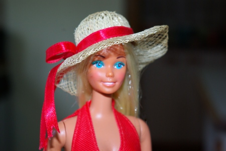 Malibu Barbie 1975 with Superstar face