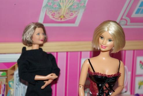 Mother confronts Midge in the bedroom.
