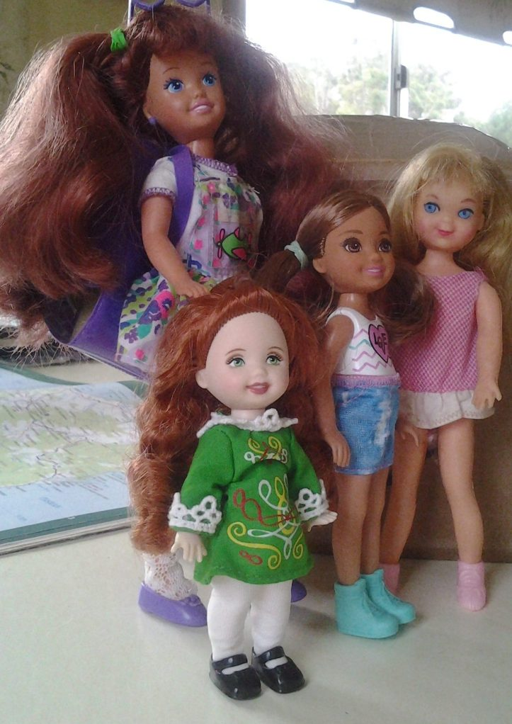 Polly Pocket Whitney, Chelsea, Tutti and Irish Kelly