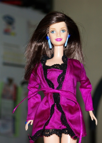 Fiona in Fashion Avenue lingerie.