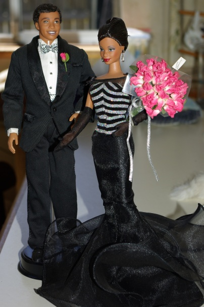 The African American version of 40th Anniversary Barbie and Ken.