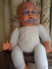 A baby doll I brought home from the Op Shop