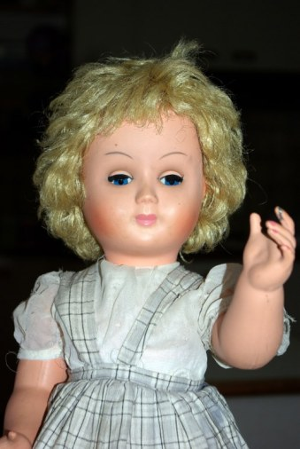 Hard plastic Italian made doll.