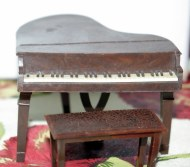 Renwal Grand Piano and stool.