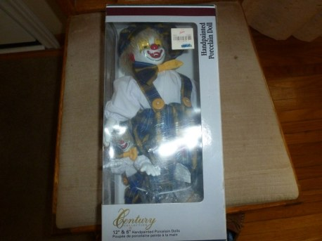 Century Collection hand painted porcelain clowns