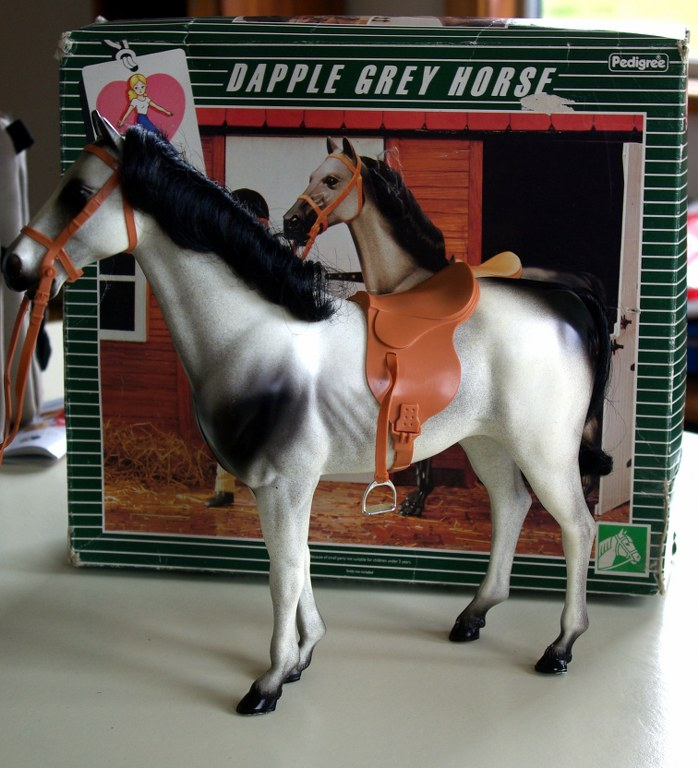 Sindy's Dapple Grey horse circa 1982