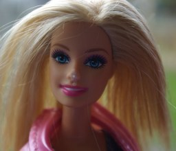 This Barbie has Oxy 10 on her nose to get rid of a mark.