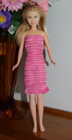 Ashley in home made dress.