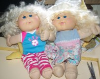 Cabbage Patch dolls redressed.