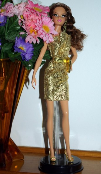 Barbie The Look City Shine Gold Dress