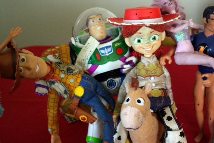 Buzz, Woody, Jessie and Bullseye.
