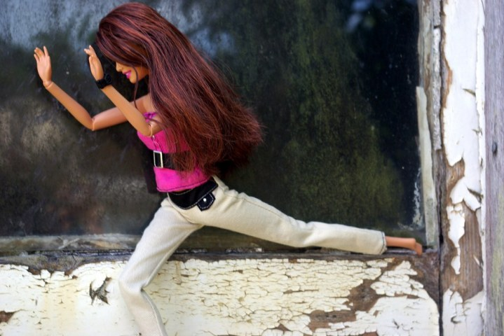 Vanessa had fun posing.