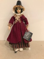 Faun doll in Welsh costume by Nu-Fabrics, Melbourne. under licence for Rexard of Essex