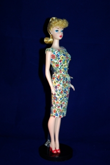 Reproduction of 1962 ponytail Barbie .