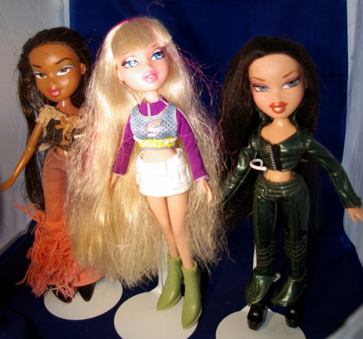 bratz dolls tidied up.