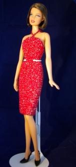 Red crochet OOAK dress
