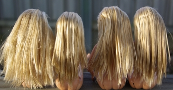 As you can see they all have nice clean shiny hair now.