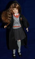 Hermione in her coat.